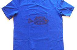 XXL Koszulka granatowa z rybą 1