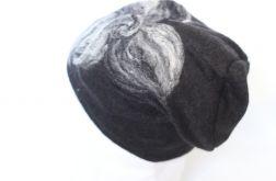 czapka wełniana filcowana czarna