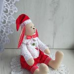 Świąteczny Króliczek Tilda ozdoba GOTOWY