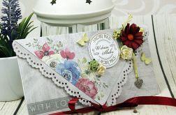 Kartka z okazji ślubu-polne kwiaty