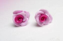 Kolczyki - różowe różyczki