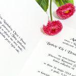 Zaproszenie na Komunię Świętą  różaniec