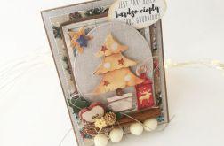 Choineczka z lampionem - kartka świąteczna 1