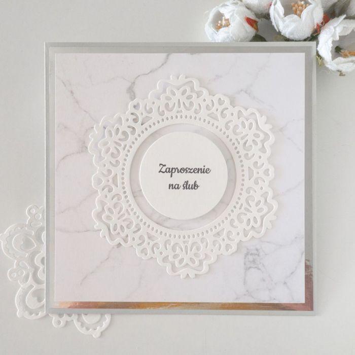 Zaproszenia ślubne- marmurek - zaproszenia handmade, oryginalne zaproszenia ślubne, zaproszenia glamour