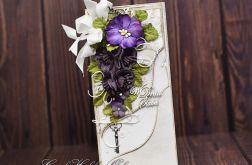 Ślubny bukiet w fioletach