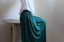 Spódnica długa lejąca się zielona