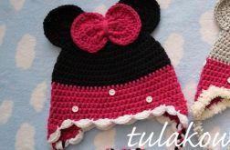 Zimowa czapka myszka czarna