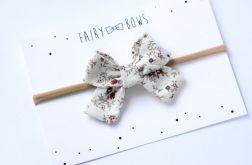 FairyBows Opaska kokardka jesienne kwiatki