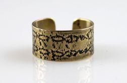 Wzory - mosiężny pierścionek