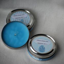 Upominki dla gości na chrzest - mini świeczka