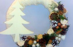 Wianek świąteczny choinka handmade