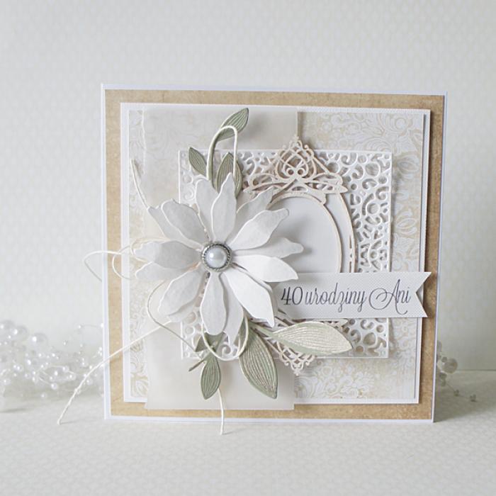 Urodzinowa kartka w pudełku  - 1 kwiat3