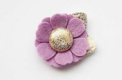 Spineczka do włosów kwiatek fioletowy