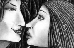Spotkanie - oryginalny rysunek 0304