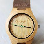 Drewniany damski zegarek BAMBOO GREEN -