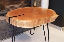 Stolik kawowy, plaster drewna - dąb
