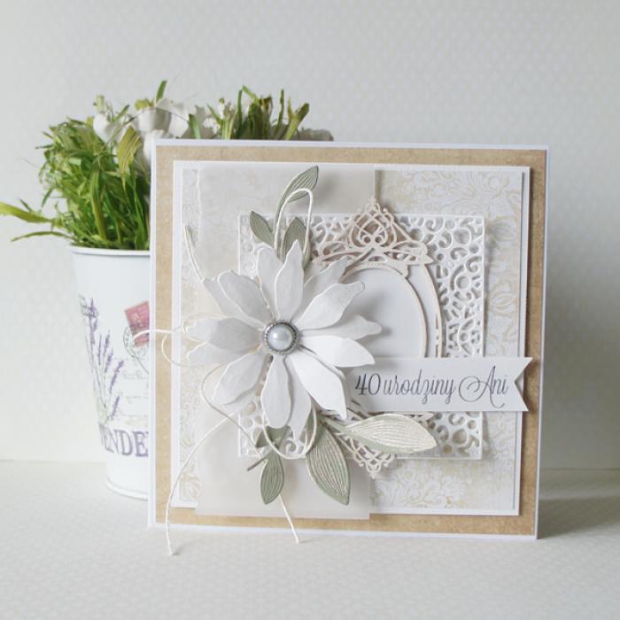 Urodzinowa kartka w pudełku  - 1 kwiat4