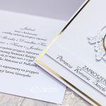 Zaproszenie z okazji komunii z hostią - Zaproszenie na Komunię Świętą ze złotem