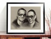 Portret pary ze zdjęcia na zamówienie