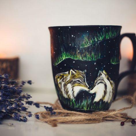 kubek wilki zorza polarna