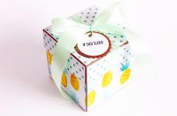 Ananasowe pudełko ślubne