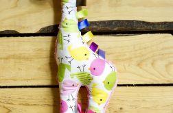 Żyrafa w Różowe Ptaszki