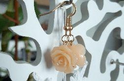 Kolczyki handmade różyczki brzoskwiniowe