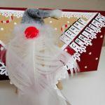 Kartka świąteczna, bożonarodzeniowa,MIKOŁAJ 3 - detal 2