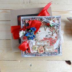Kartka świąteczna w pudełku VINTAGE #3