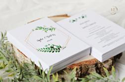 Zaproszenia na ślub geometryczne greenery