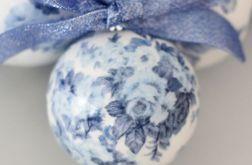 Bombka niebieskie róże