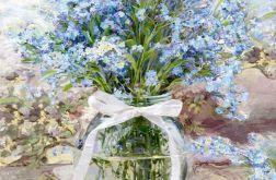 Obraz na płótnie kwiaty polne, 80 x 80