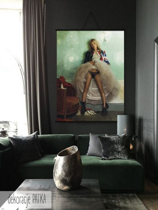 Kate Moss - dekoracje