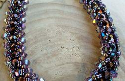 bransoletka żmijka zygzakowata śliwkowa