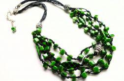 Forest - Naszyjnik sznurek i masa perłowa