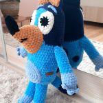 Bluey z bajki Blue maskotka szydełkowa plusz - Bluey na szydełku