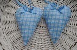 Niebieskie romantyczne serduszko mini