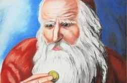 Żyd liczący pieniądze II pastela A4