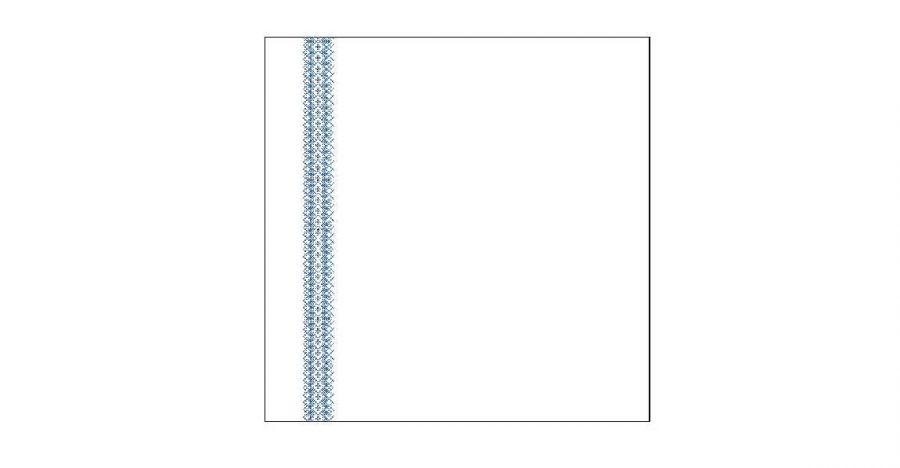 Jaśki z haftem łemkowskim krzyżykowym - wzór 2
