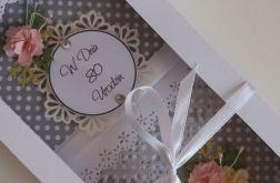80 urodziny-kartka w pudełku