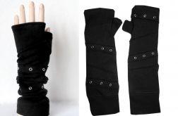 Rękawiczki czarne rockowe mitenki