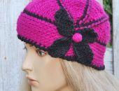 czapka Poppy- Amarant