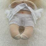 ANIOŁEK lalka dekoracja tekstylna  OOAK/18 - mam majteczki w kropeczki