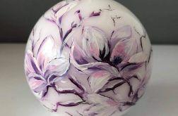 Świeca w kształcie kuli-magnolie