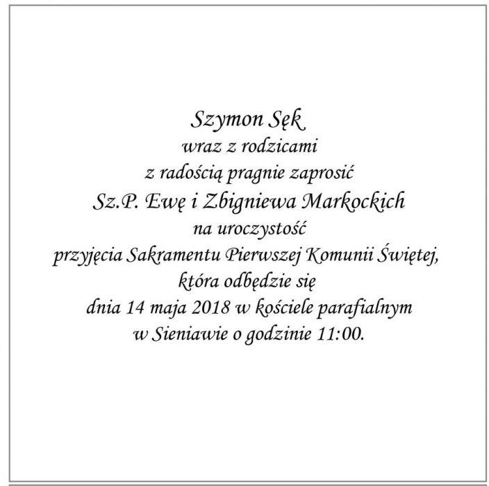 Zaproszenie Chrzest/Komunia błękit ZAK2003