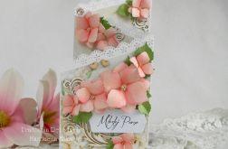 Ślubna kartka kaskadowa w pudełku 04