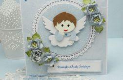 Z aniołkiem-pamiątka Chrztu w pudełku 1