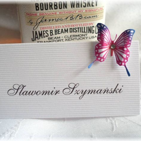 ŚLUB - Winietki z motylami