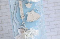 Niebieski komplet na chrzest dla chłopca