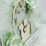 Kartka ślubna w kolorze mięty